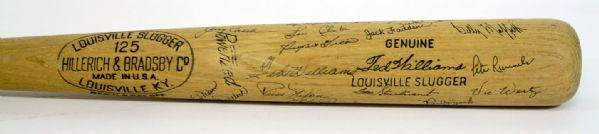Lot Detail 1960 Ted Williams Game Used Team Signed Bat