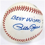 Pete Rose Signed Ball