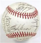 1986 K.C. Royals Team Signed Ball