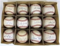 Lot of 12 Single Signed Balls Featuring SPs (Clemens, Palmer, Morris, Blyleven, ETC)