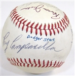 Dodgers Team Signed Old Timers Baseball W/ Campanella