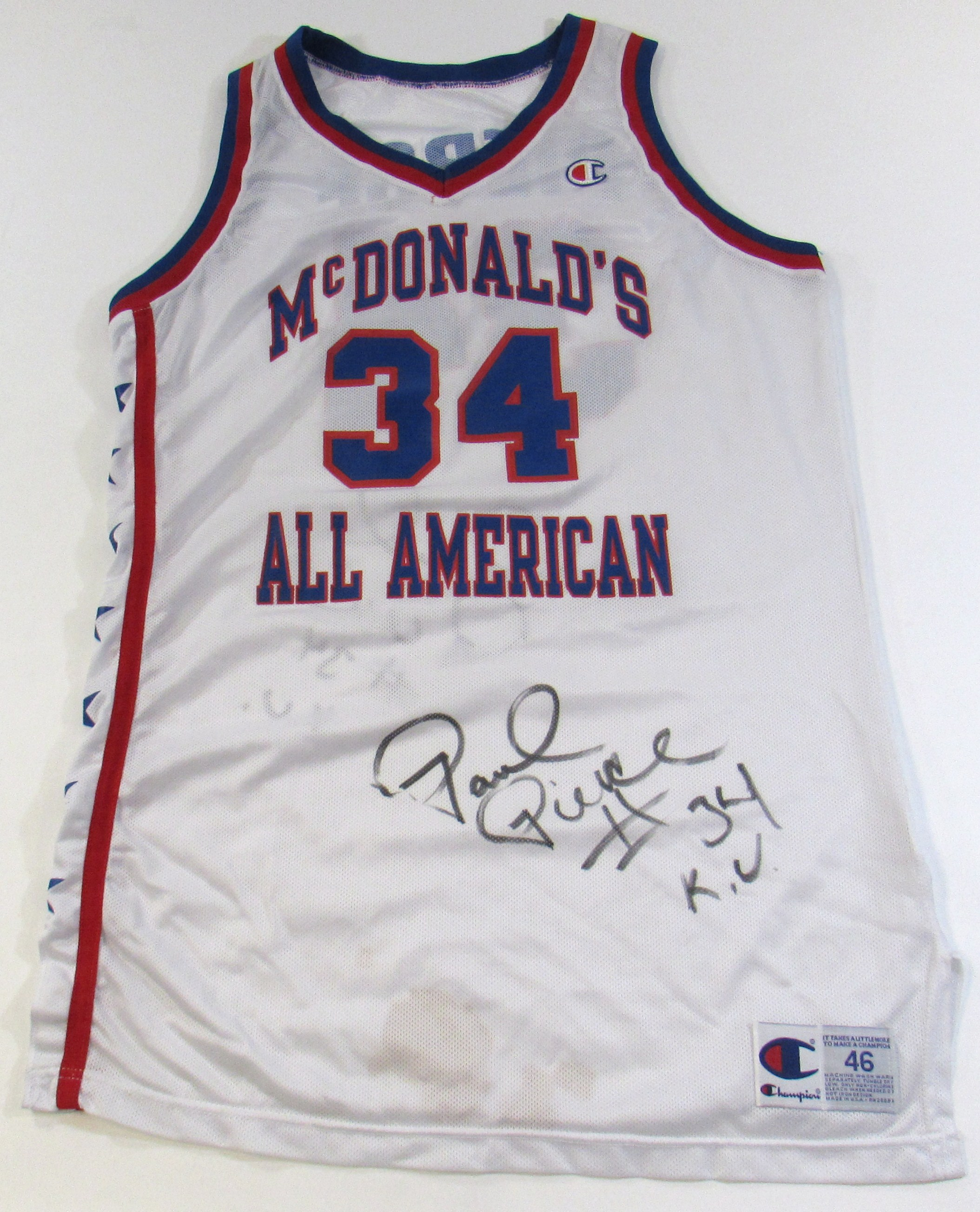 sports shoes f760c 486f2 Lot Detail - Paul Pierce Game Used McDonalds All-American ...