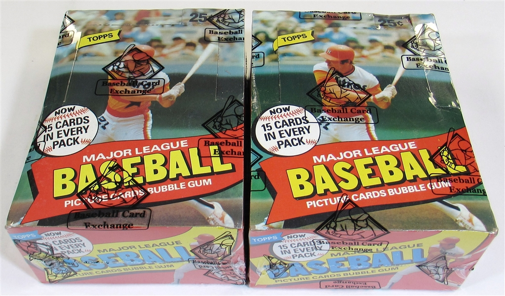 Lot of 2- 1980 Topps Baseball Wax Boxes