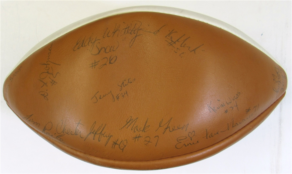 Circa 1976 K-State Team Signed Football W/23 Sigs