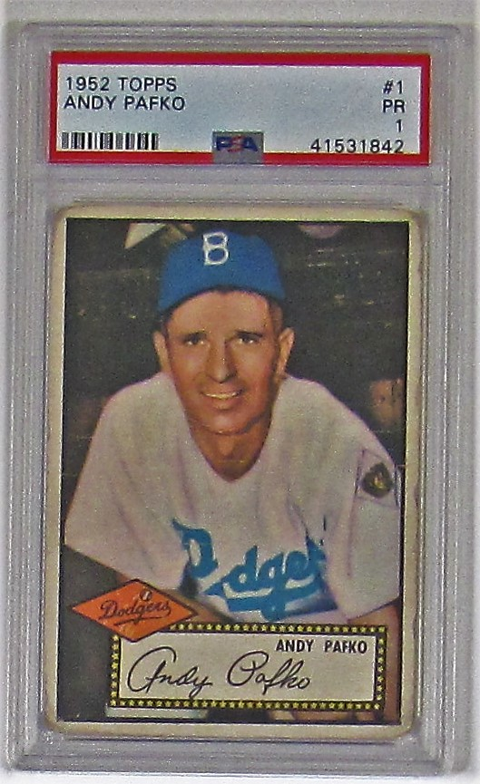 Lot Detail 1952 Topps Andy Pafko Psa 1