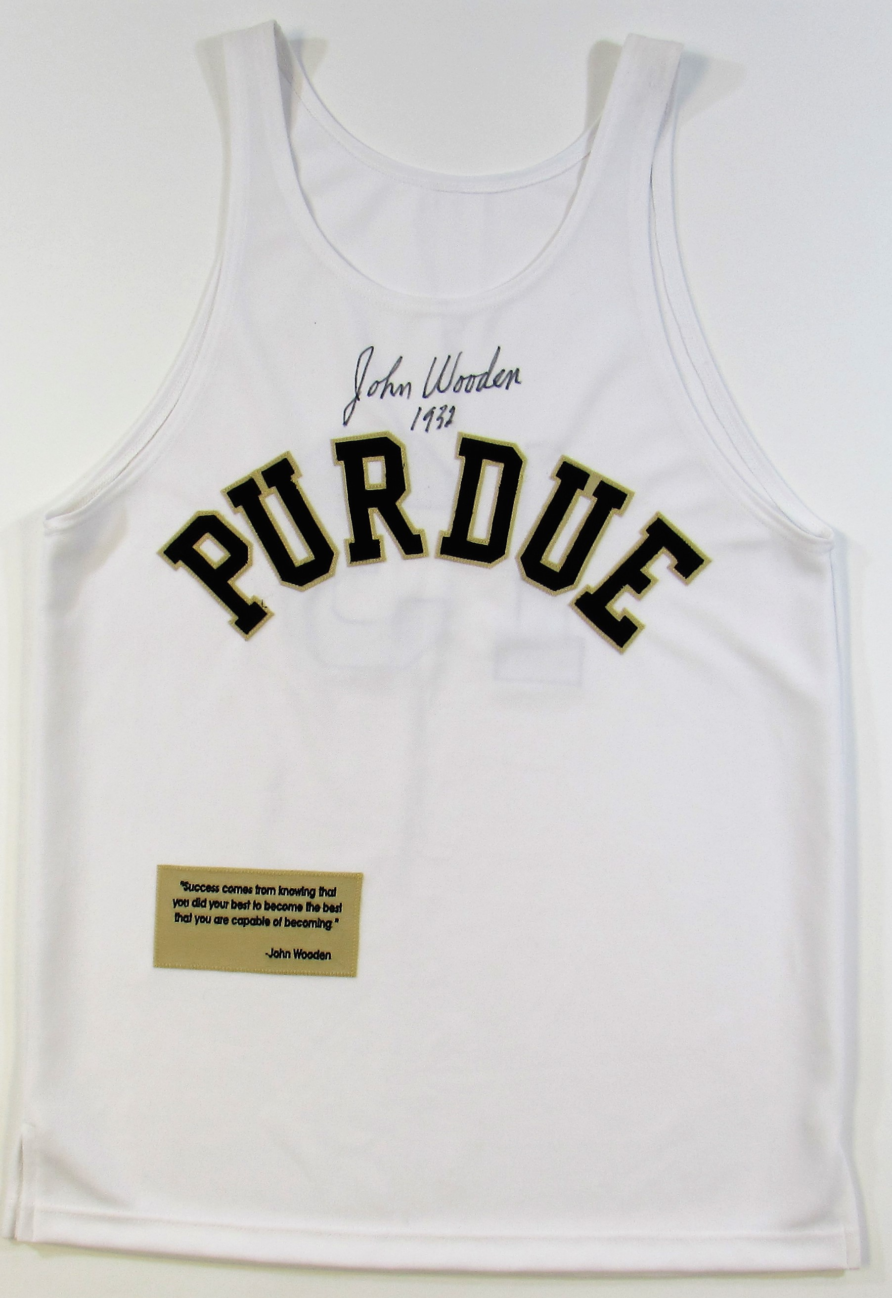 low priced 9b248 f9733 Lot Detail - John Wooden Signed Purdue University # 13 ...