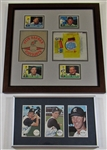 Framed Signed KC As Cards, Lot W Framed Players & Topps Wrapers