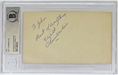 Wilt Chamberlian 1957 KU Mint 9 Signed Govement Postcard