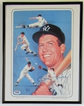 Mickey Mantle Signed Lithograph PSA/DNA 12x8