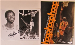 Lot of 2 Kareem Abdul-Jabbar Signed Photos JSA
