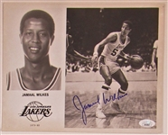 Jamaal Wilkes Signed Lakers Team Issued Photo - JSA