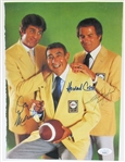 ABC Sports Photo Signed - Howard Cosell- Don Merideth- Frank Giffords - JSA