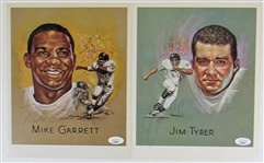 Kansas City Chiefs Signed Player Cards - Mike Garrett - Jim Tyrer - JSA