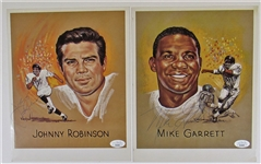 Kansas City Chiefs Player Cards Signed HOF Johnny Robinson- Mike Garrett