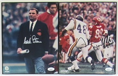 Hank Stram & Otis Taylor Framed & Signed Photos - JSA